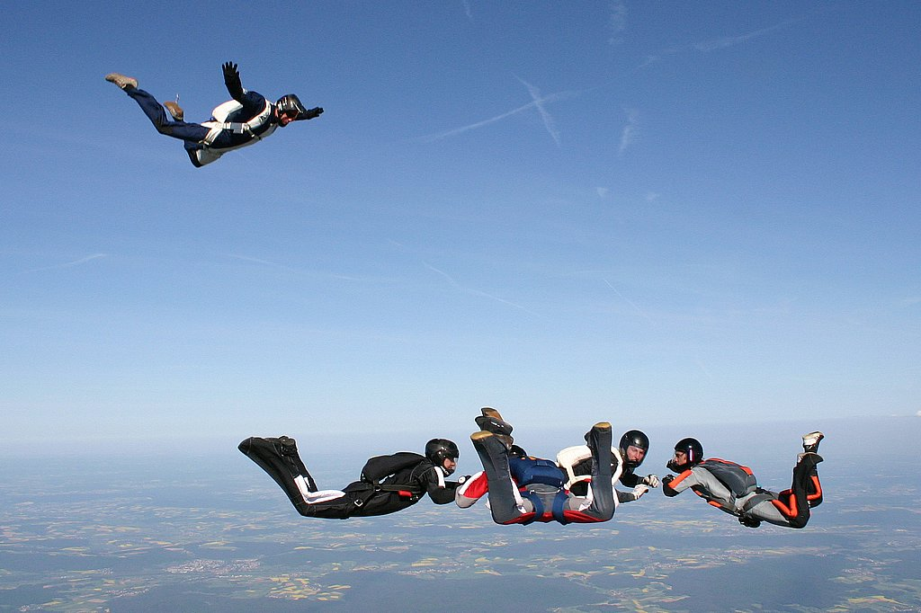 Formationsspringen Fallschirmspringen