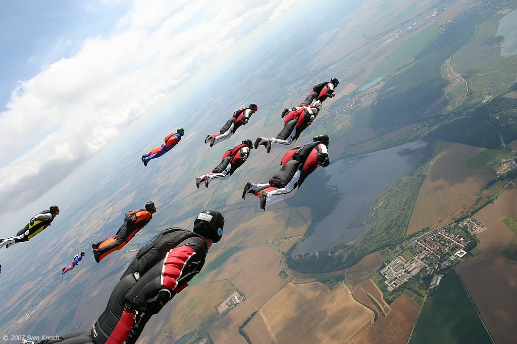 Wingsuit Fallschirmspringen